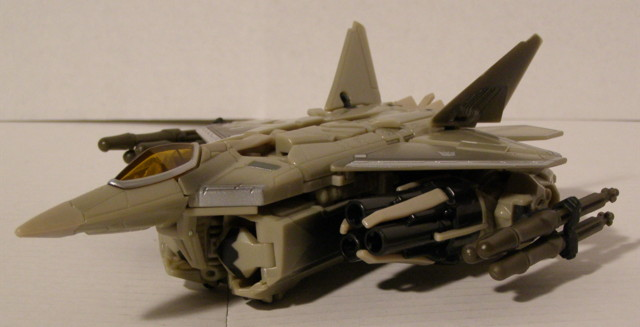 Starscream is perhaps the first public look at the new F22 Raptor military